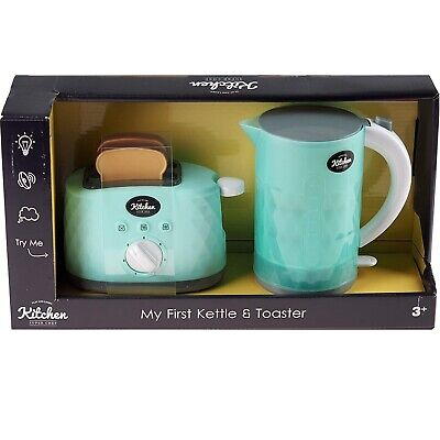 My First Kettle And Pop Up Toaster With Light And Sound Kids Boys Girls Toy • 12.99£