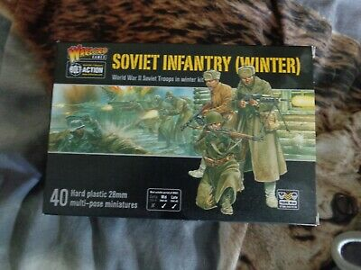 Warlord Games, Bolt Action Soviet Winter Infantry Plastic • 15.50£