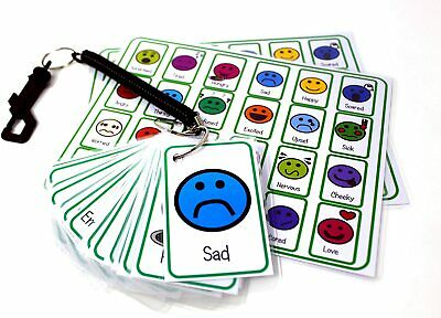 Feelings And Emotion Flash Card Pack - Autism ADHD SEN PECS Visual Communication • 12.99£