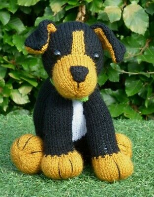 Hand Knitted Cuddly Puppy Dog • 20£