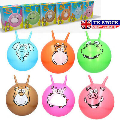 Large Space Hopper Inflatable Kids Outdoor Indoor Jumping Bounce Playing Ball UK • 6.95£