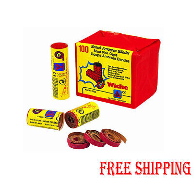 Wicke 2 Rolls Of 100 Shot Paper Caps 12 Reels 2400 Bangs Cap Gun Toy Not Kids UK • 7.99£