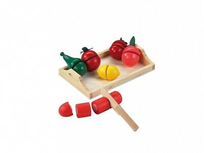 Happy People Wooden Toy Groceries Vegetable And Fruit 8-teilig • 12.31£