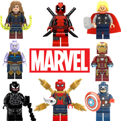 Marvel Avengers Custom Lego Mini Figures DC Superhero Iron Man Thor Star Wars UK • 2.59£