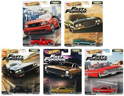 Hot Wheels Premium Fast & Furious Motor City Muscle Set Of 5 Vehicles GBW75 • 21.99£