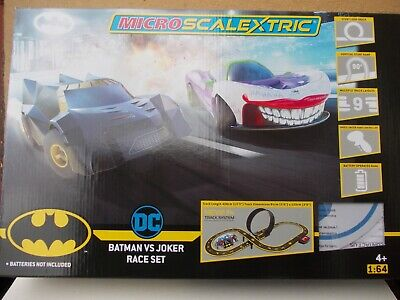 Micro Scalextric G1155 Batman/ Joker Brand New 2020 Set With Different Cars    • 29.99£