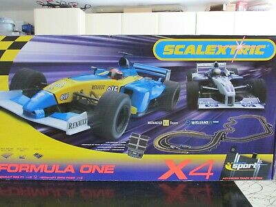 Scalextric Set NEW Formula One X4 With 2 F1 Cars & Lap Counter Timer. Very Rare. • 120£