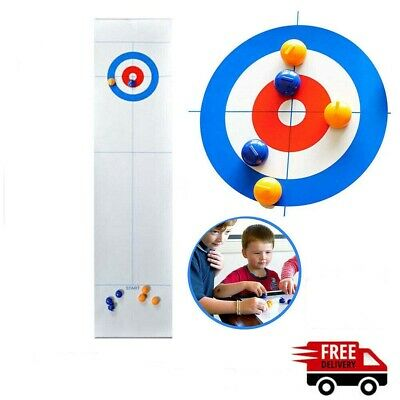 Family Curling Table Game Adult Training Tabletop Ball Games Fun Toy Home • 8.99£