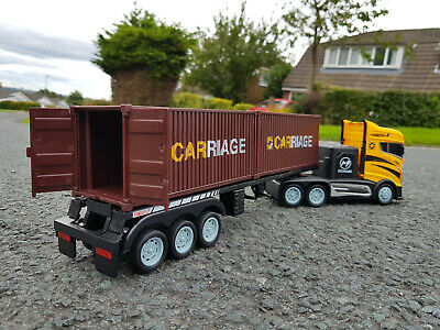2.4GZ Europe Container Felixstowe Lorry Truck 44cmL Radio Remote Control Car • 27.99£
