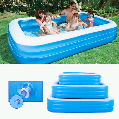 LARGE Inflatable Swimming Pool Outdoor Garden Family Kids Play Paddling Pools • 25.99£