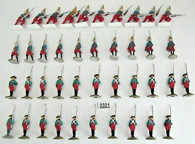 Metal Soldiers American War Independence ? - 41 Infantry Mainly Painted - (2321) • 14.99£