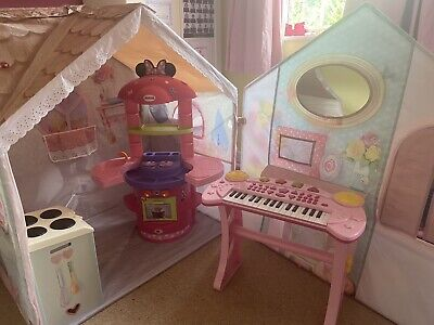 Kids Play Tent, Mini Mouse Cooker, Oven And Piano Bundle • 30£