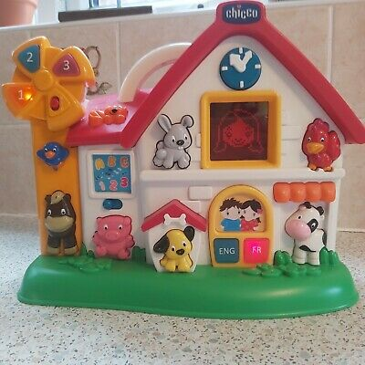Chicco Farmhouse Talking English/French Speaking Learning Toy • 10.99£