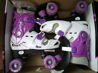 Osprey Girls Quad Skates Roller Boots Size (UK 3-5) • 19.99£