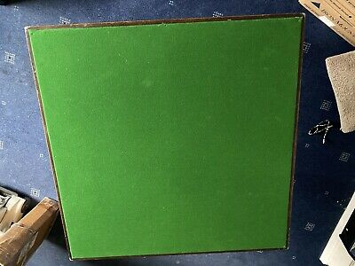Vintage Vono Folding Card Bridge Poker Games Table Covered In Green Baize • 35£