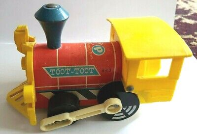 Vintage Fisher Price Toot Toot Train Children's Pull Along Toy (643) - 1964 • 11.04£