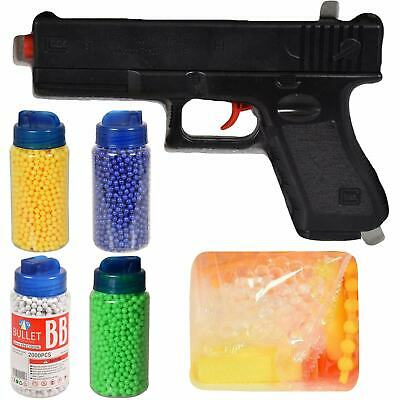 Kids Toy Pistol Gun EVA Glue Crystal Gel Water Soft Bullet Sports Indoor Outdoor • 7.99£