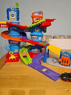 Vtech Toot Toot Drivers Police Patrol Tower With Police Car Vehicle • 17.99£