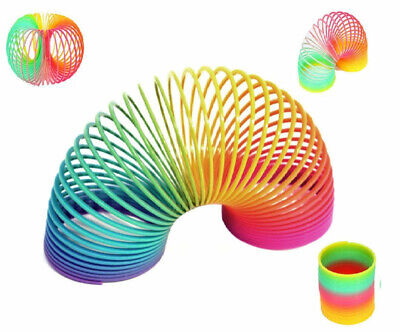 Large Rainbow Spring Coil Slinky Fun Kids Toy Magic Stretchy Bouncing Toys  • 2.99£