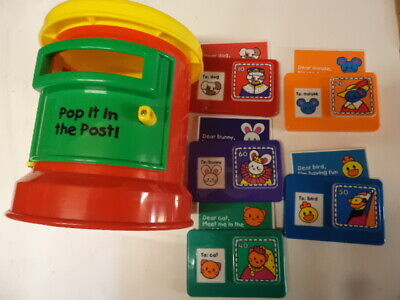 ELC Plastic Toy Red Post Box With 5 Letters • 4.99£
