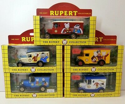 Rupert The Bear - 5 X Days Gone / Lledo Diecast Cars And Vans - Ford, Morris • 19.99£