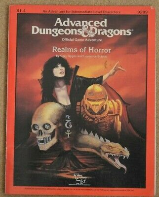 REALMS OF HORROR Advanced Dungeons & Dragons AD&D S1-4 TSR Rare • 42£
