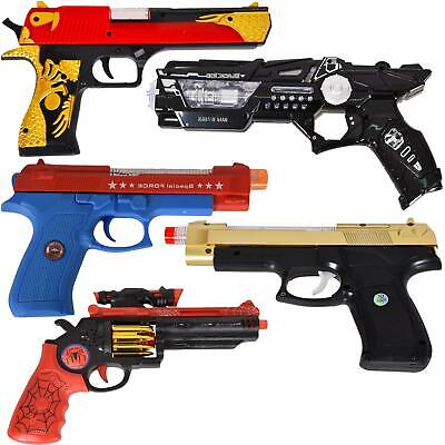 Kids Flashing Gun Golden Eagle Pistol Toy With Light Sound & Vibration Effects • 7.99£