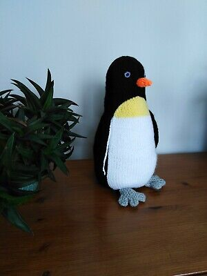 Percy Penguin - Hand Knitted Soft Toy • 20£