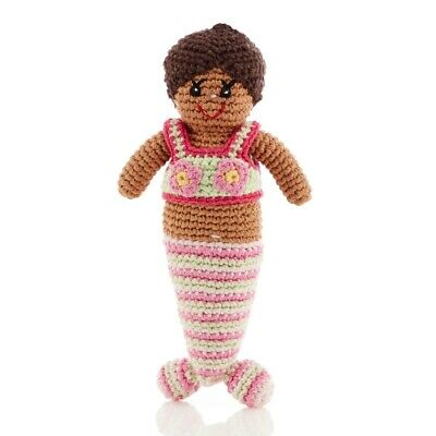 Pebble Mermaid Rattle Soft Toy, Fair Trade And Handmade, Brand New With Tags • 5.99£