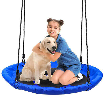 100cm Giant Nest Web Rope Hanging Tree Swing Seat Climbing Frame Round Backyard • 27.98£