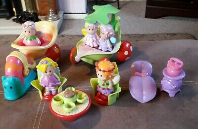 Happyland Fairies Bundle With Toadstool Furniture And Snail Carriage.  • 9.50£