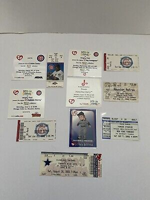 Ty Related Baseball Commemorative Cards & Game Tickets - Cubs, Yankees, Etc • 25£
