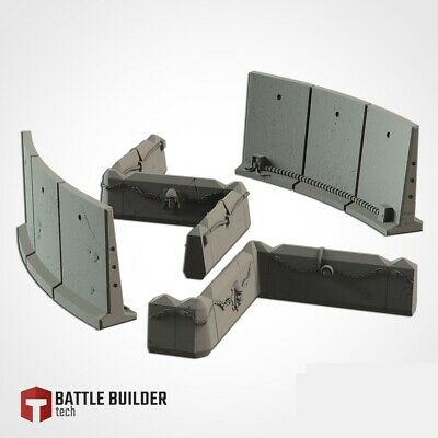 Barricade Line Terrain For 28mm Scenery Tabletop Wargame 40k • 12.99£