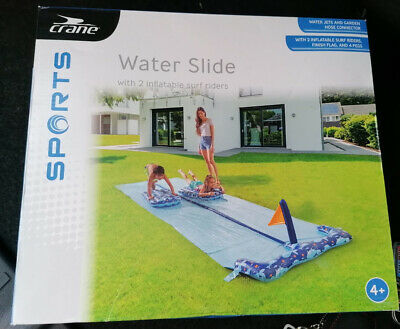 488x140cm Crane Water DOUBLE Slip And Slide With 2x Inflatable Surf Riders Aldi • 21.99£