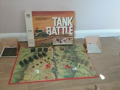Tank Battle. Vintage (1976) Board Game Of Military Tactics & Action By Mb Games. • 5£