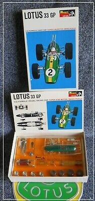 Monogram Lotus 33 GP Formula 1 F1 Boxed Slot Race Clark Atlas Pactra Scalextric • 375£