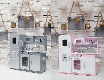 GALACTICA Wooden Pretend Play Kitchen Toy Kids Cooking Role Play Game • 72.99£