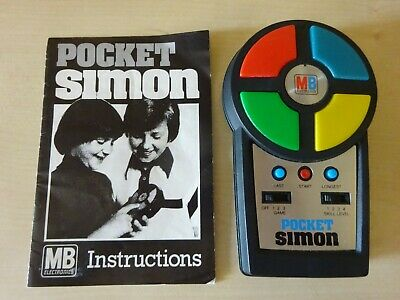 Vintage Pocket Simon Game MB Electronics From 1980 Instructions Tested Working  • 18.99£