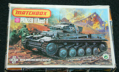 Matchbox Ausf-F Panzer II 1:76 Scale Model Tank Kit 40081. • 21£