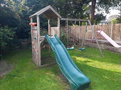 Plum Lookout Tower With Slide And Swings. • 44£