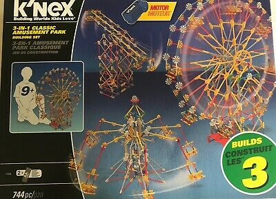 K'nex 3-in-1 Amusement Park Building Set, Boxed, With Motor • 6.50£