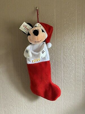 Disney Mickey Mouse Soft Christmas Stocking 1999 With Tags Still Attached • 3.99£
