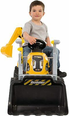 Smoby Kids Ride On Tractor And Trailer | Colorful, Durable Kids Sit On Tractor | • 96.99£
