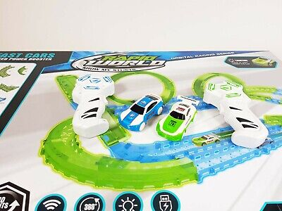 Large Electric Remote Control Slot Car Racing Track Set Kids Toy Race Game JJ113 • 34.99£