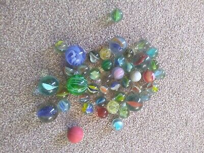 Vintage Glass Marbles Job Lot  Bundle Found In Loft - Age Unknown • 4.64£