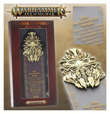 Games Workshop Warhammer Age Of Sigmar Gotrek Gurnisson Bookmark Limited Edition • 21.95£