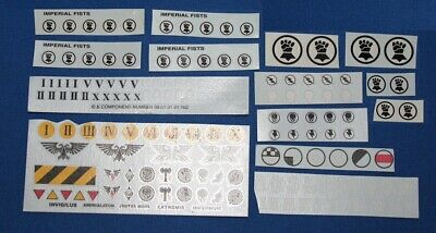 Warhammer 40k Space Marines - Imperial Fists Transfers • 16£
