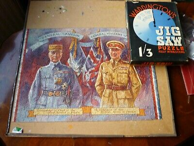 Vintage Waddingtons Up To The Minute Jigsaw -The Allied Commanders • 2.50£