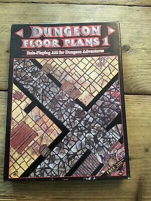 Games Workshop 1986 Dungeon Floor Plans 1 Fantasy Roleplay Used • 14.99£