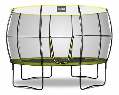 *Nearly New* Rebo 11ft X 8ft Oval Garden Trampoline 2020 Halo II Version VGC!! • 250£